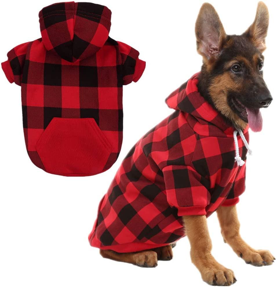 KOOLTAIL Plaid Dog Hoodie Unique Dog Gift