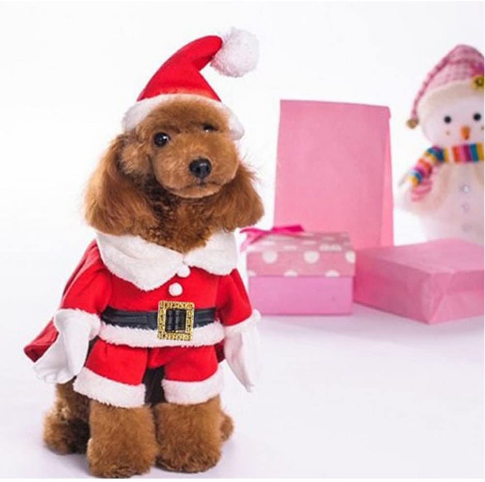 NACOCO Christmas Suit with Cap Unique Dog Gift