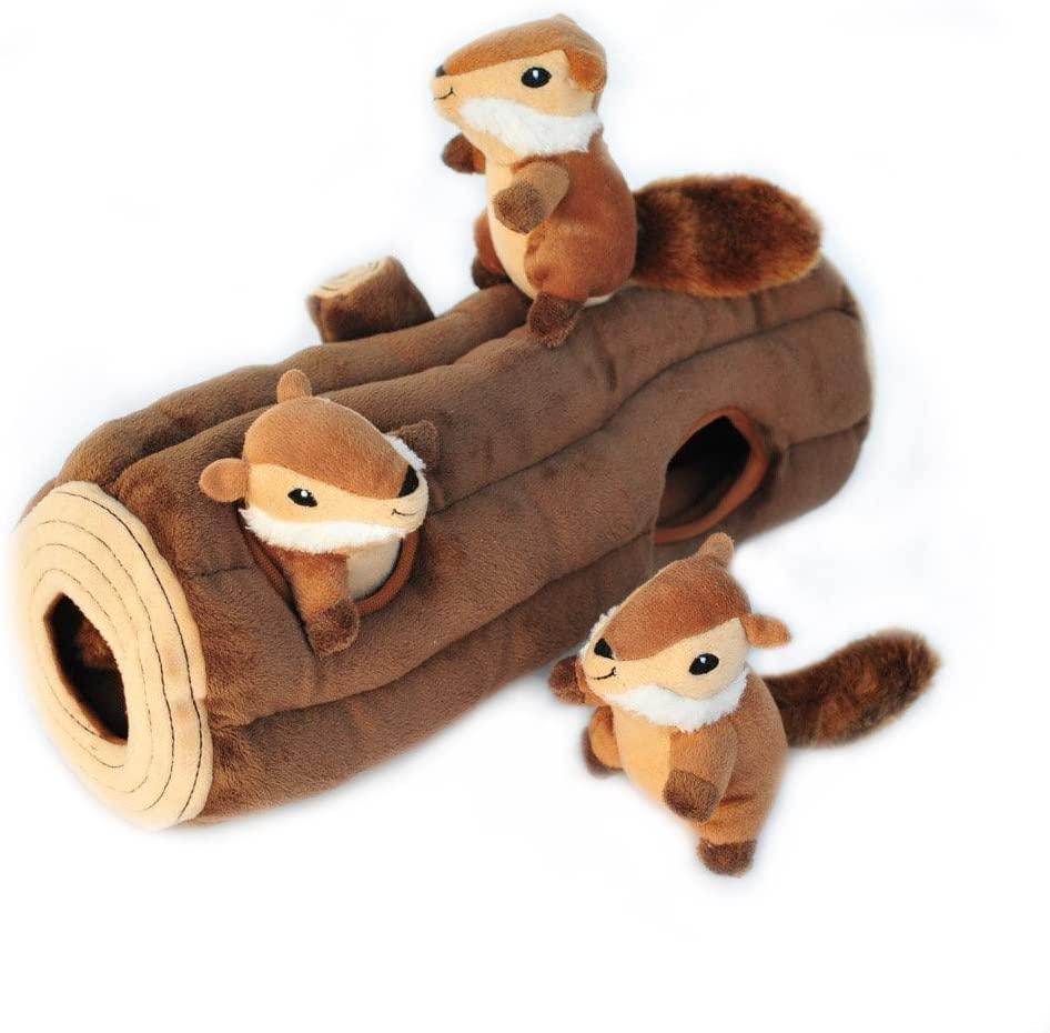 ZippyPaws Burrow Log Unique Dog Gift