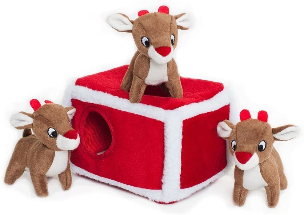 ZippyPaws Holiday Reindeer Pen Unique Dog Gift