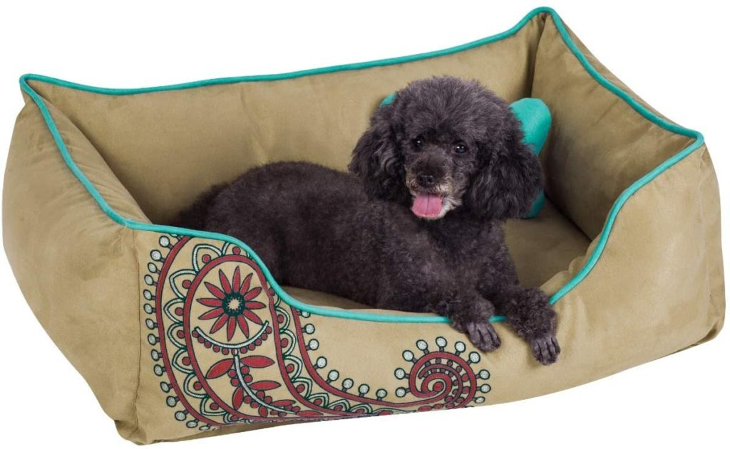 Blueberry Overstuff Dog Bed for Chewers