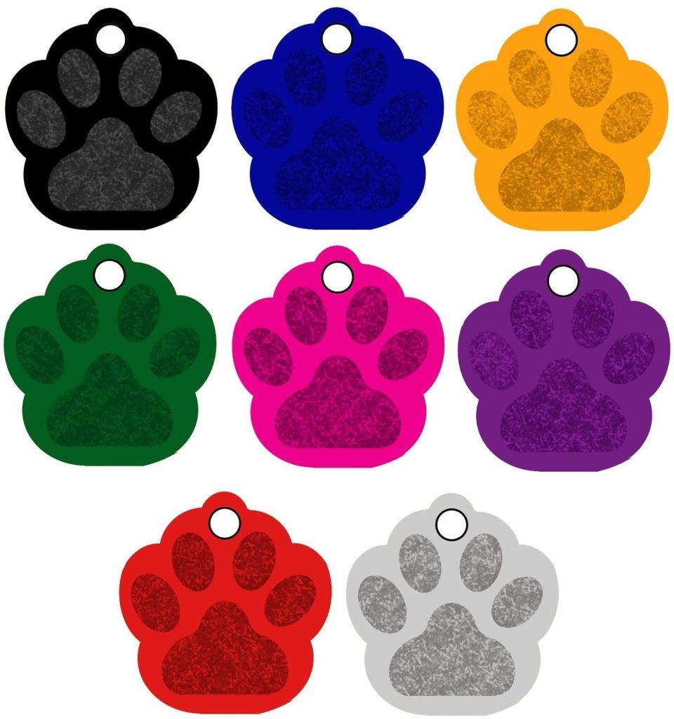 CNATTAGS Colored Pet ID Tags
