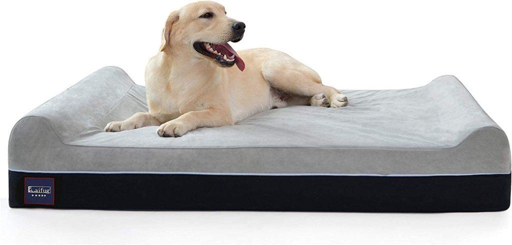 Laifug Orthopedic Memory Foam Washable Dog Bed