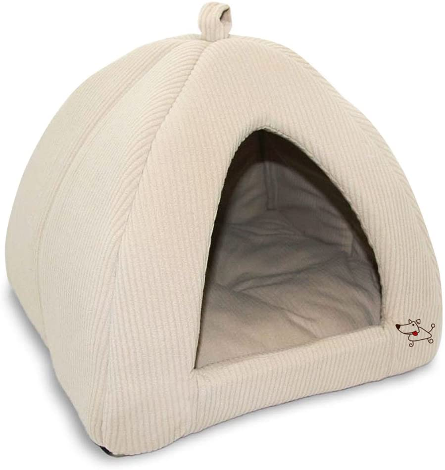 Corduroy Tent Small Dog Bed
