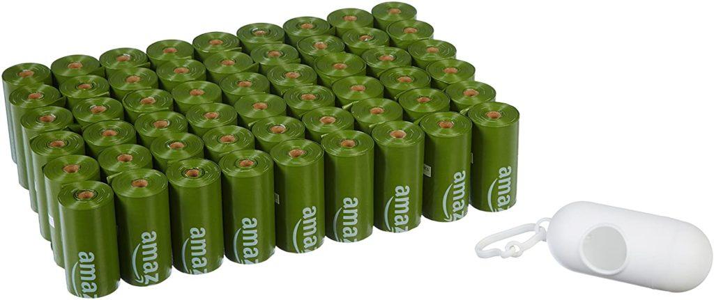 AmazonBasics Unscented Biodegradable Dog Poop Bags