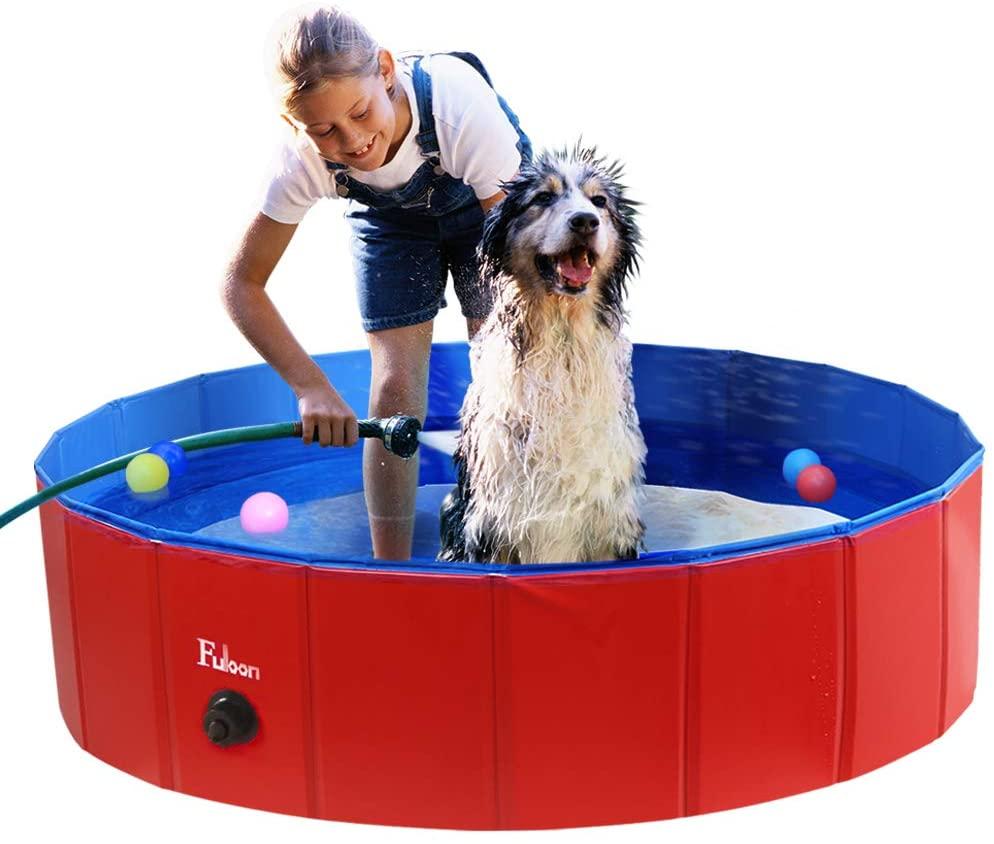 Fuloon Portable PVC Pet Swimming Pool