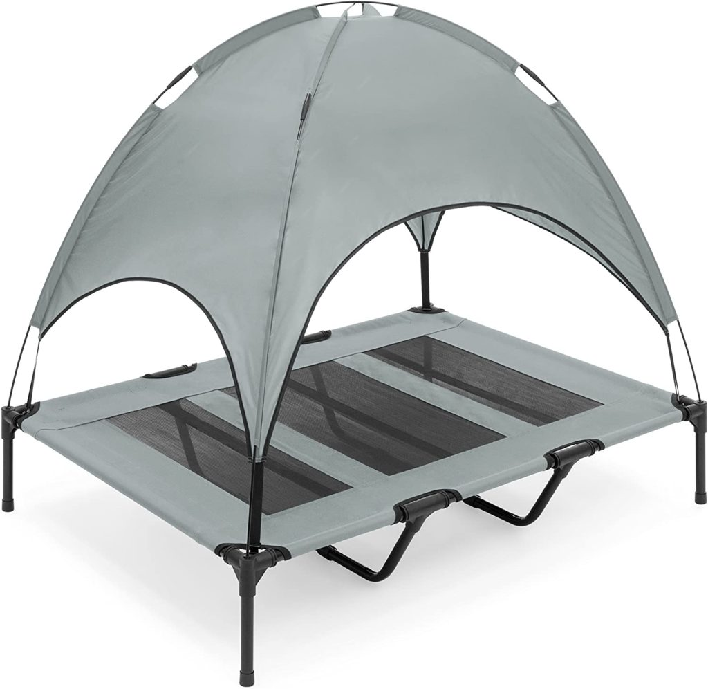 Best Choice Products Elevated Dog Bed with Canopy
