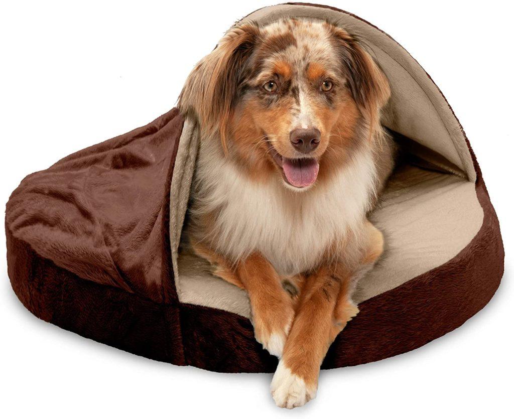 FurHaven Orthopedic Round Cuddler Calming Dog Bed