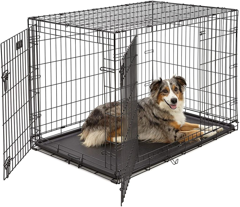 MidWest Double Door Folding Metal Indestructible Dog Crate