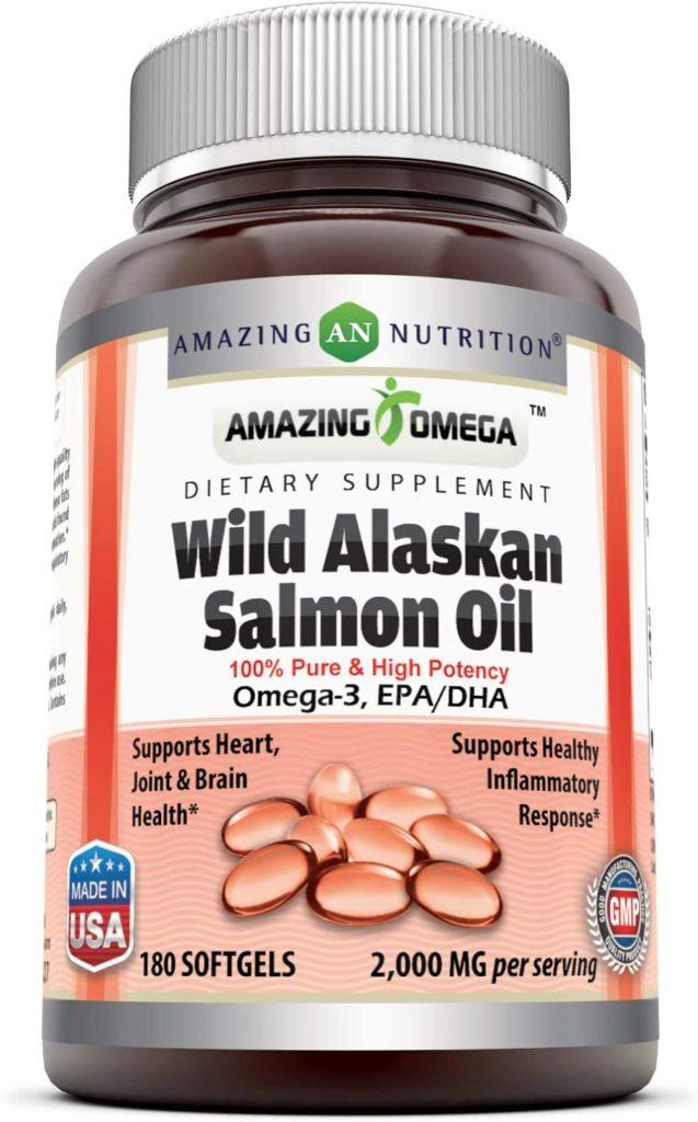 Amazing Nutrition Omega Wild Alaskan Salmon Oil