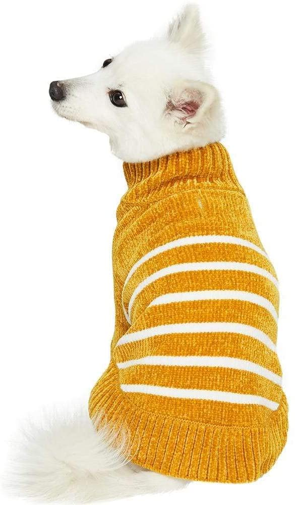 Blueberry Pet Chenille Striped Dog Sweater