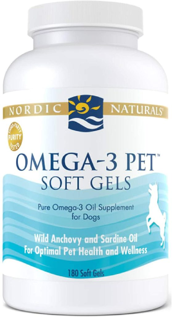 Nordic Naturals Omega-3 Pet Soft Gels Fish Oils for Dogs