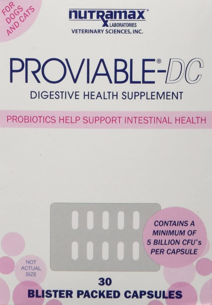 Nutramax Proviable Health Supplements Probiotics for Dogs