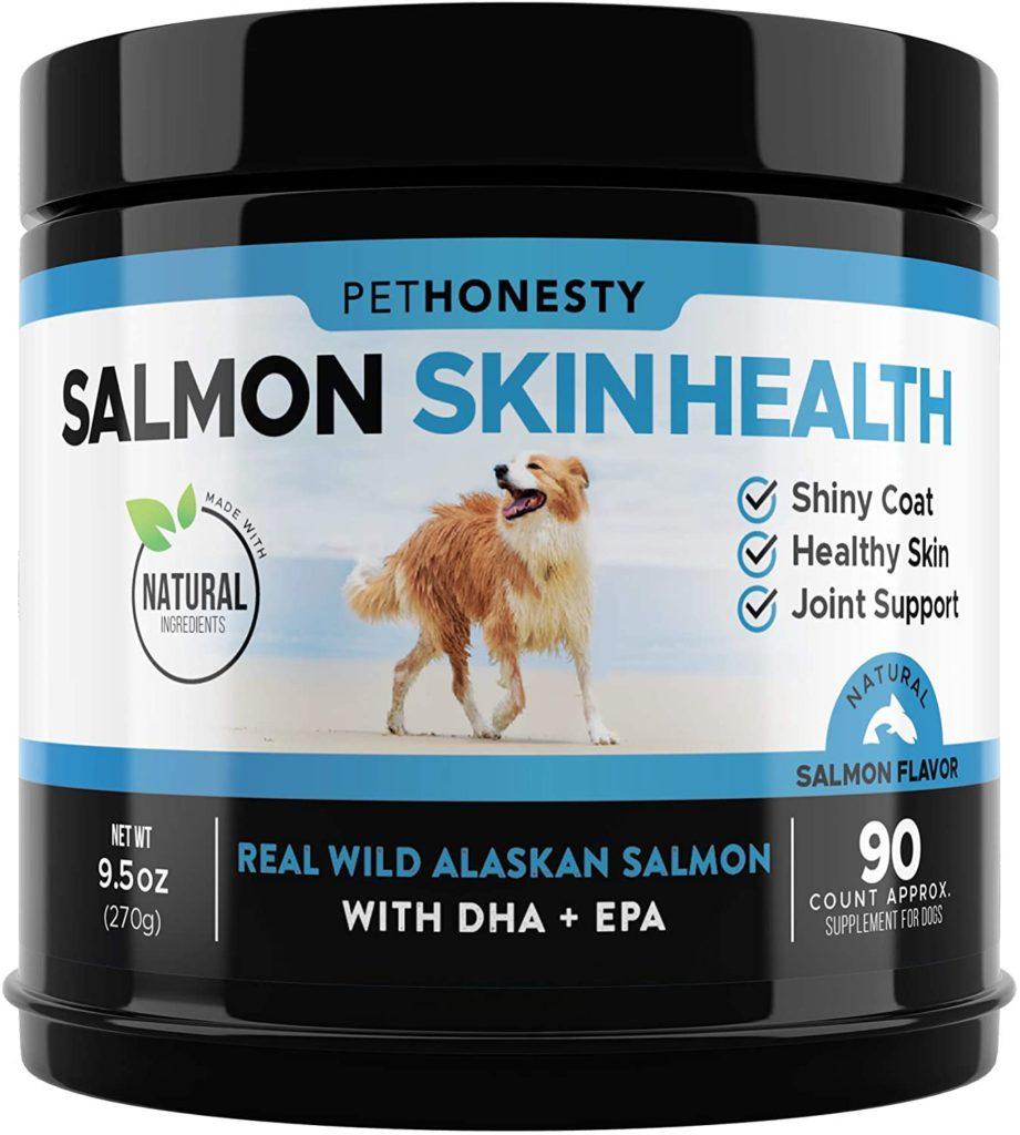 PetHonesty Salmon Skin Health OmegaSalmon Chews Fish Oil for Dogs