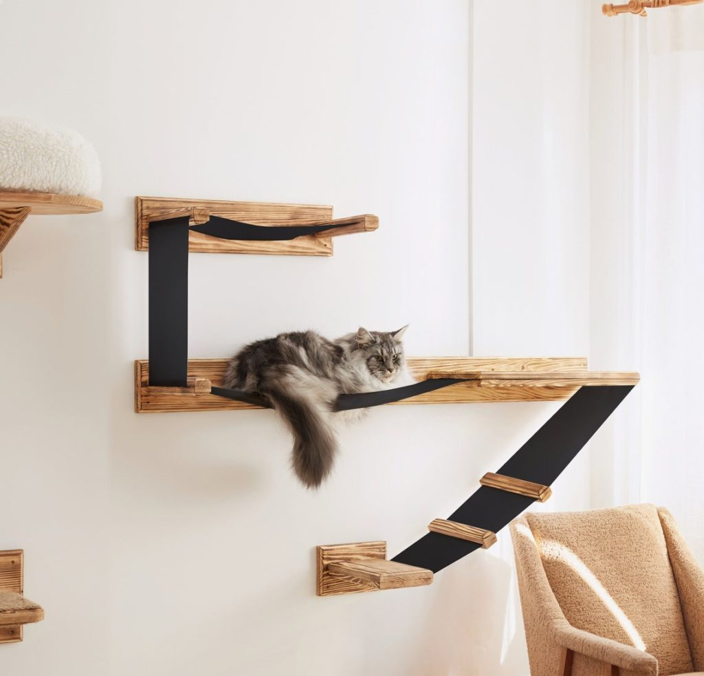 We Sell Dream Wall-Mounted Cat Shelf Play Platform with Bed