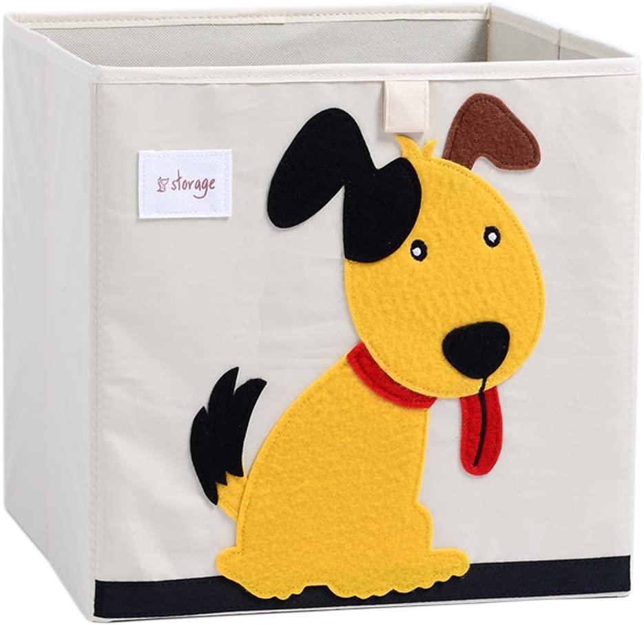 DODYMPS Foldable Animal Canvas Dog Toy Storage Box