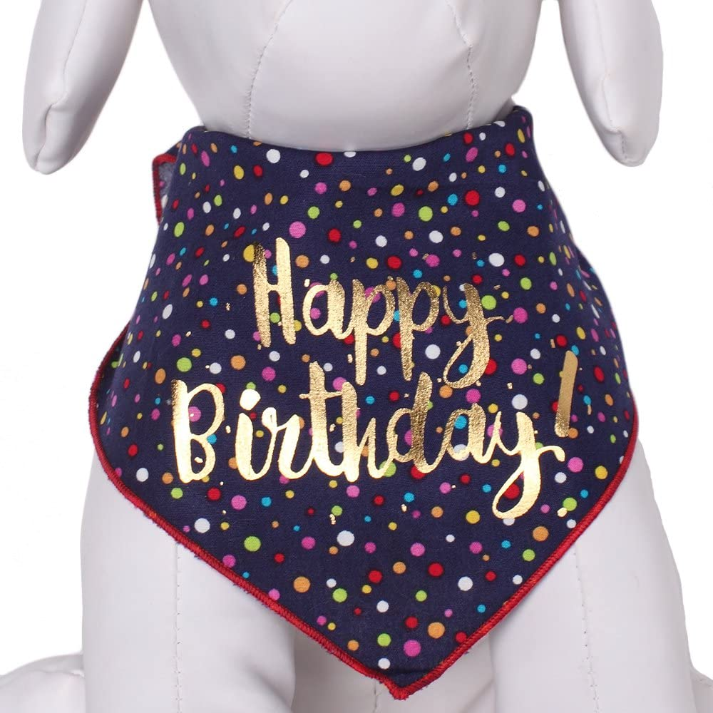 Tail Trends Happy Birthday Dog Bandana
