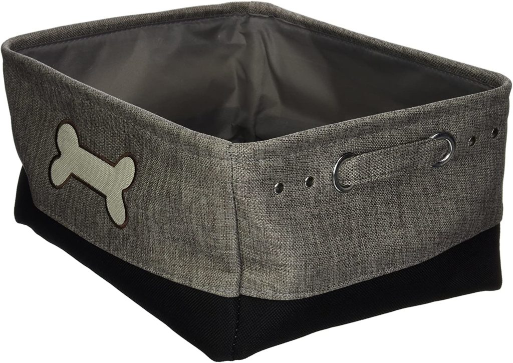 Winifred & Lily Embroidered Pet Toy Storage Bin