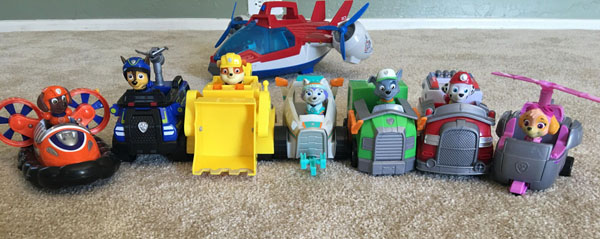 PAW Patrol features dogs and their vehicles