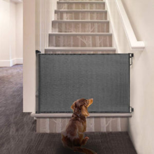Retractable dog gates can keep your dog from dangerous areas