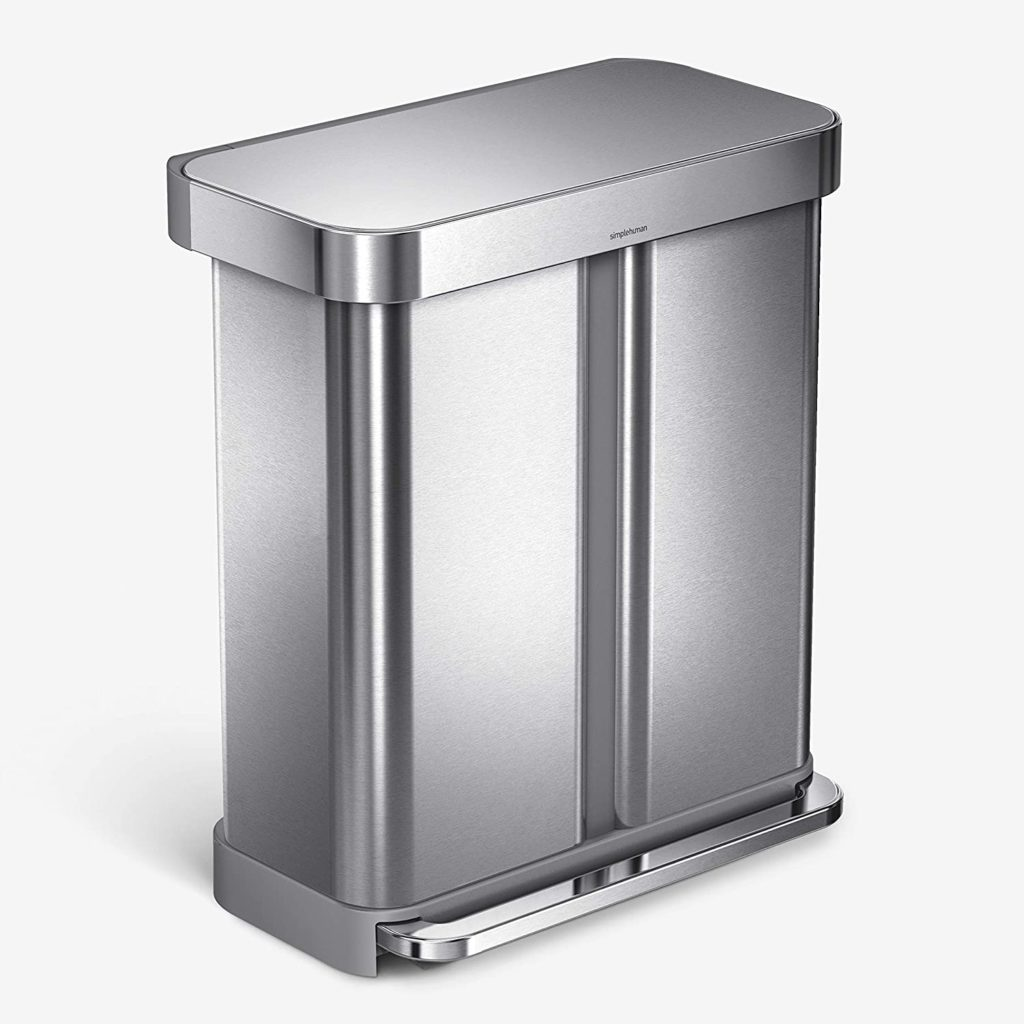 SimpleHuman Dual Compartment Step Trash Can