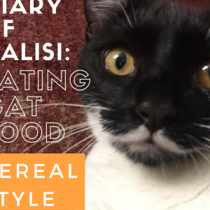 Kalisi overcame her initial stress and demonstrated a new way to eat her food